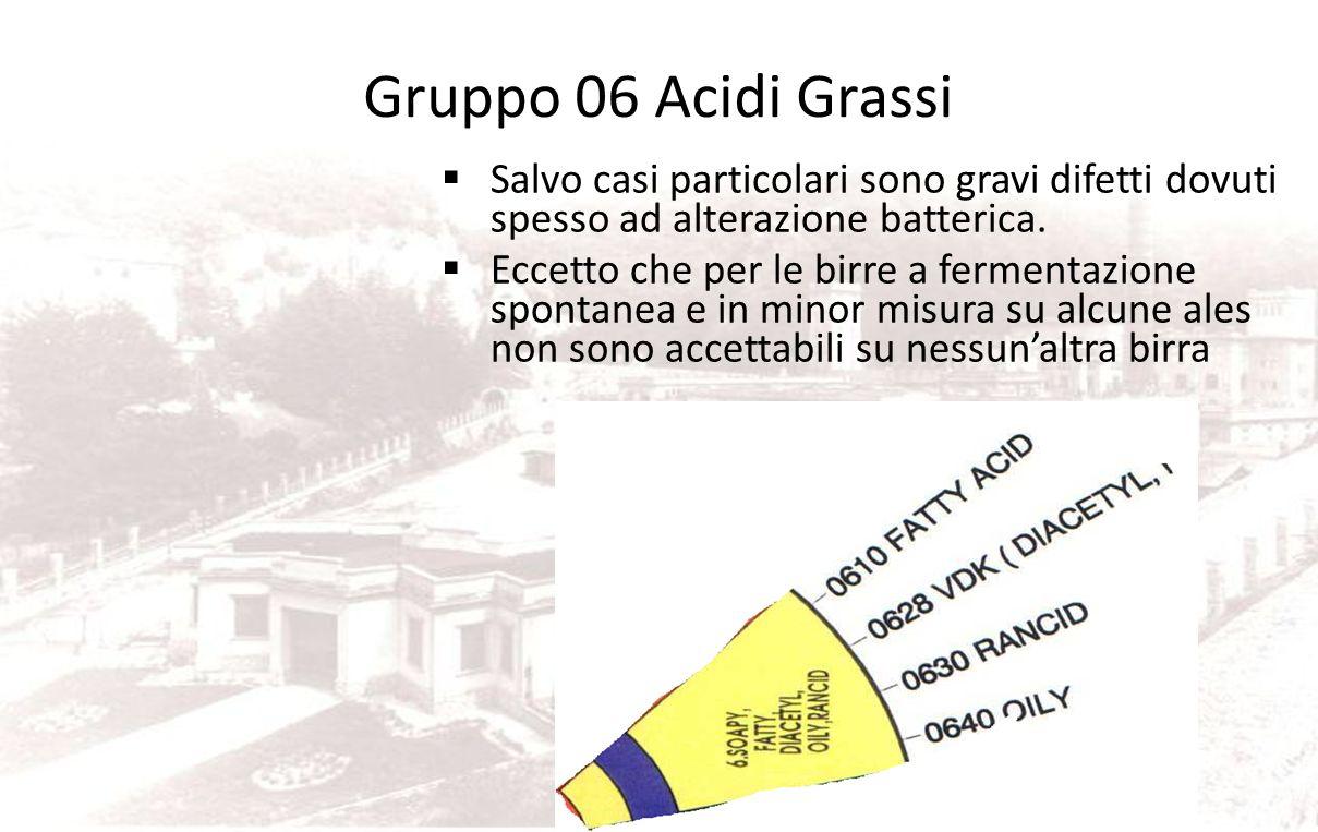 Gruppo 06 Acidi Grassi Salvo casi particolari sono gravi difetti dovuti spesso ad alterazione batterica.