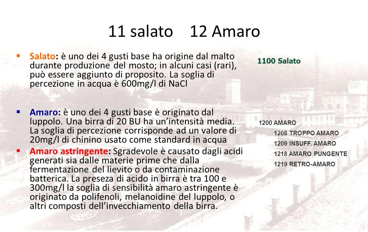 11 salato 12 Amaro