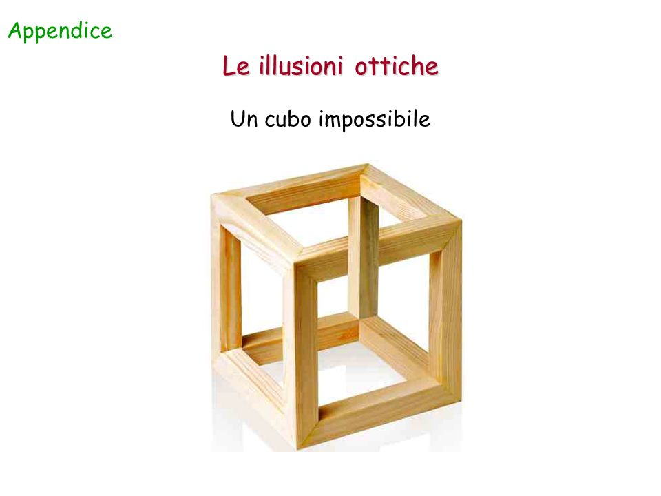 Appendice Le illusioni ottiche Un cubo impossibile