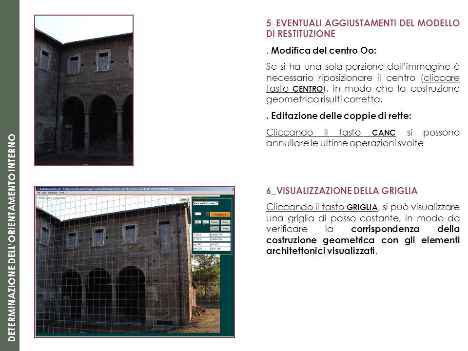 5_EVENTUALI AGGIUSTAMENTI DEL MODELLO DI RESTITUZIONE