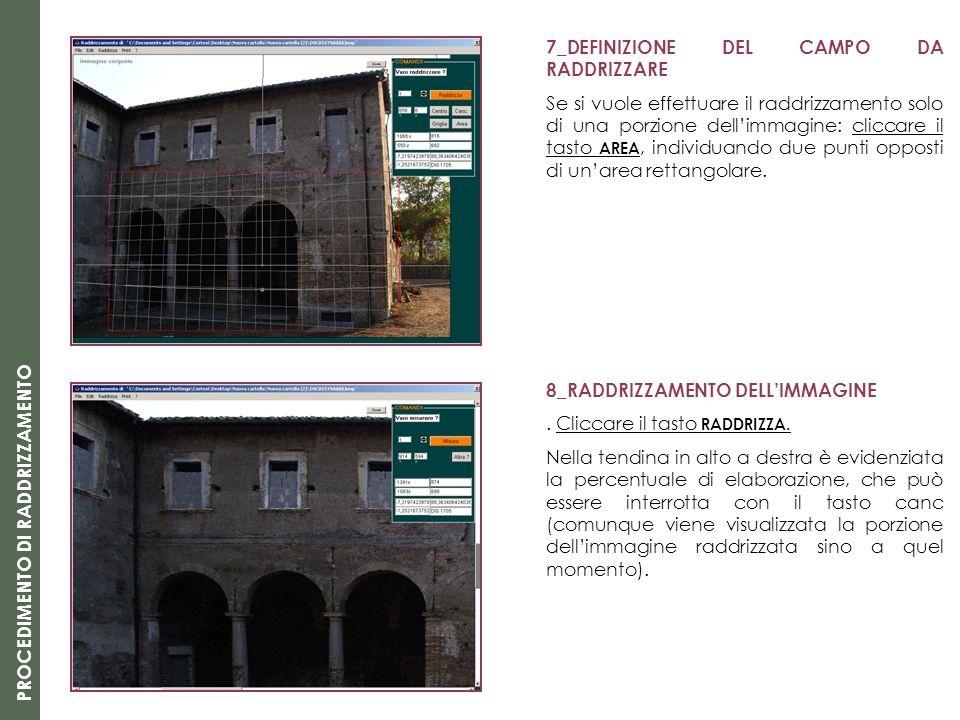 7_DEFINIZIONE DEL CAMPO DA RADDRIZZARE