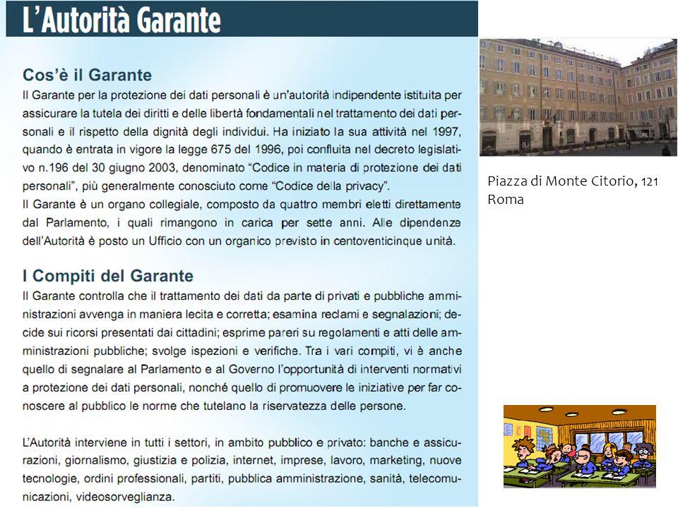 Piazza di Monte Citorio, 121