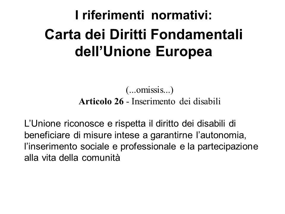 (...omissis...) Articolo 26 - Inserimento dei disabili