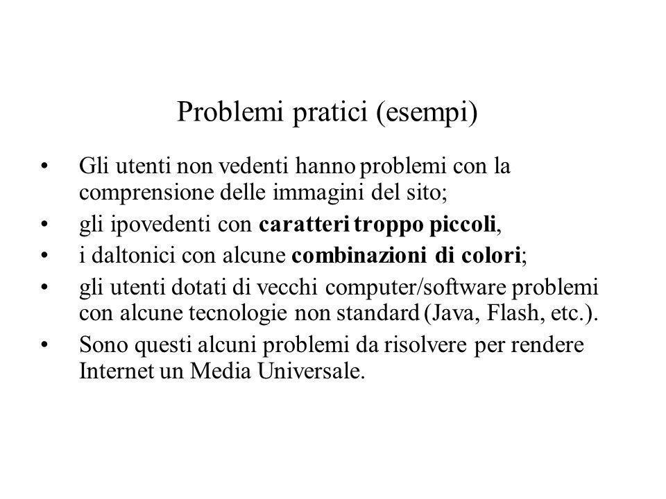 Problemi pratici (esempi)
