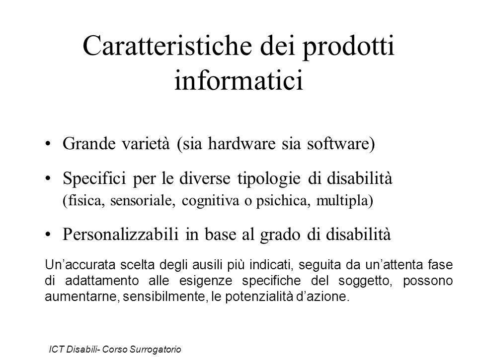 Caratteristiche dei prodotti informatici