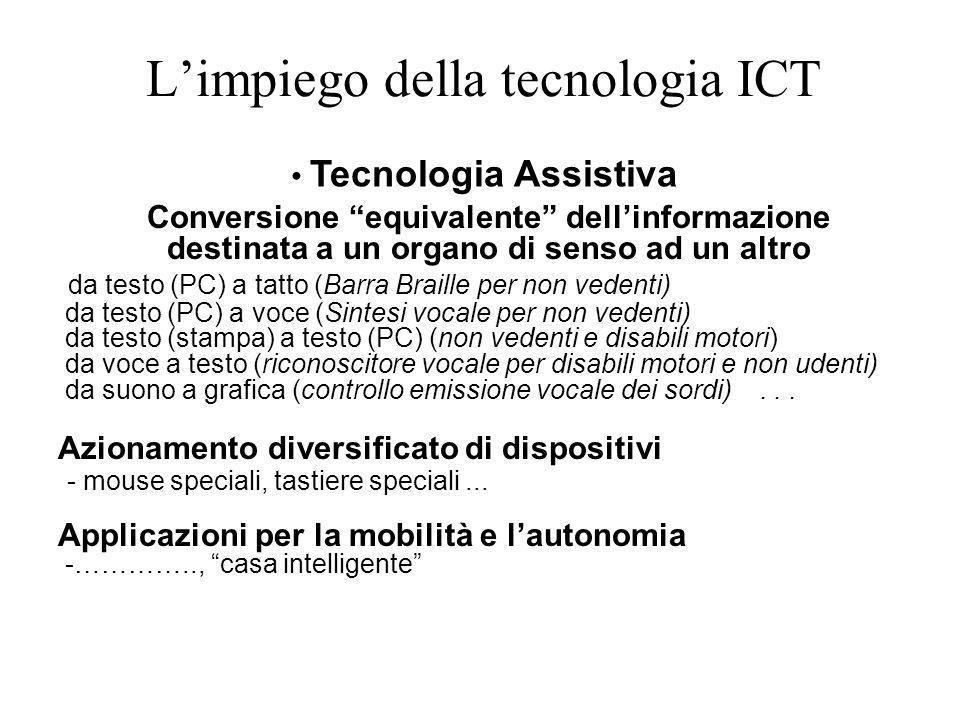 L'impiego della tecnologia ICT