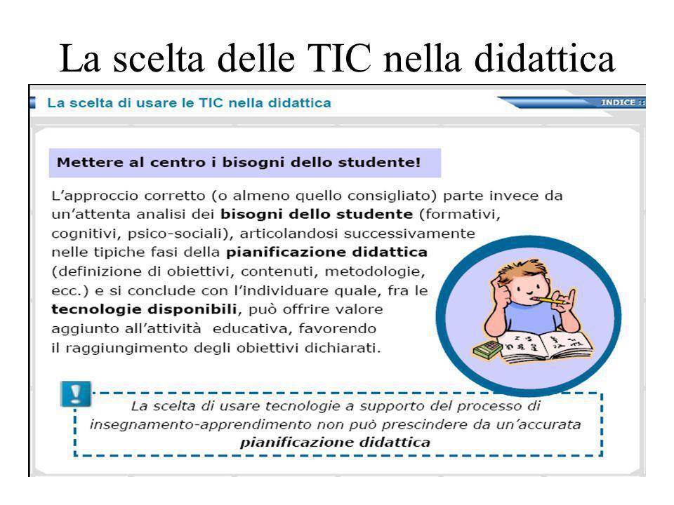 La scelta delle TIC nella didattica