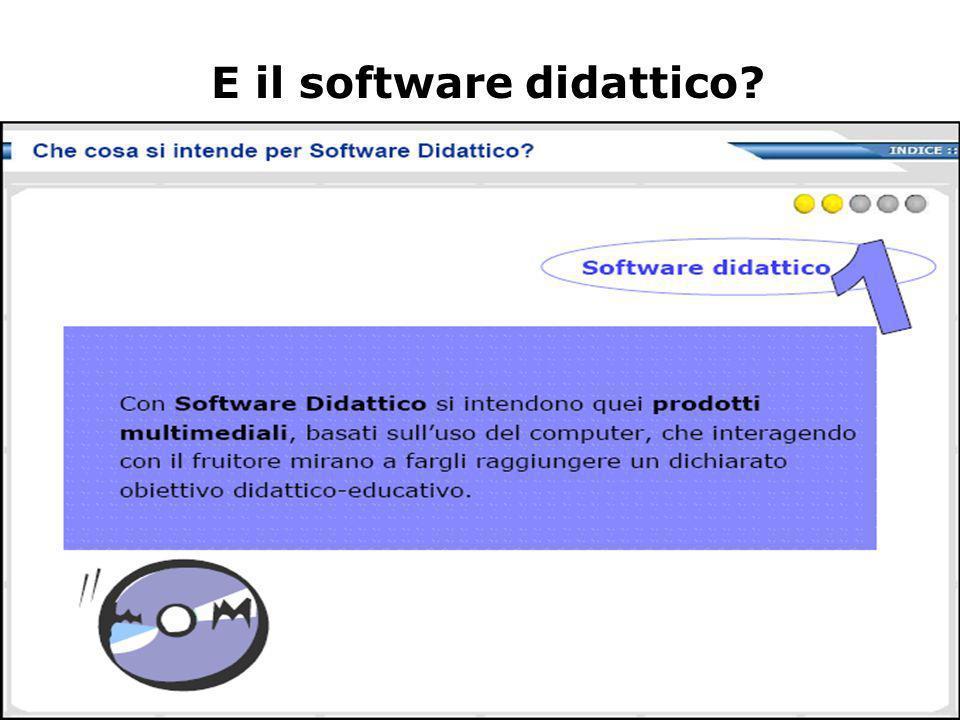 E il software didattico
