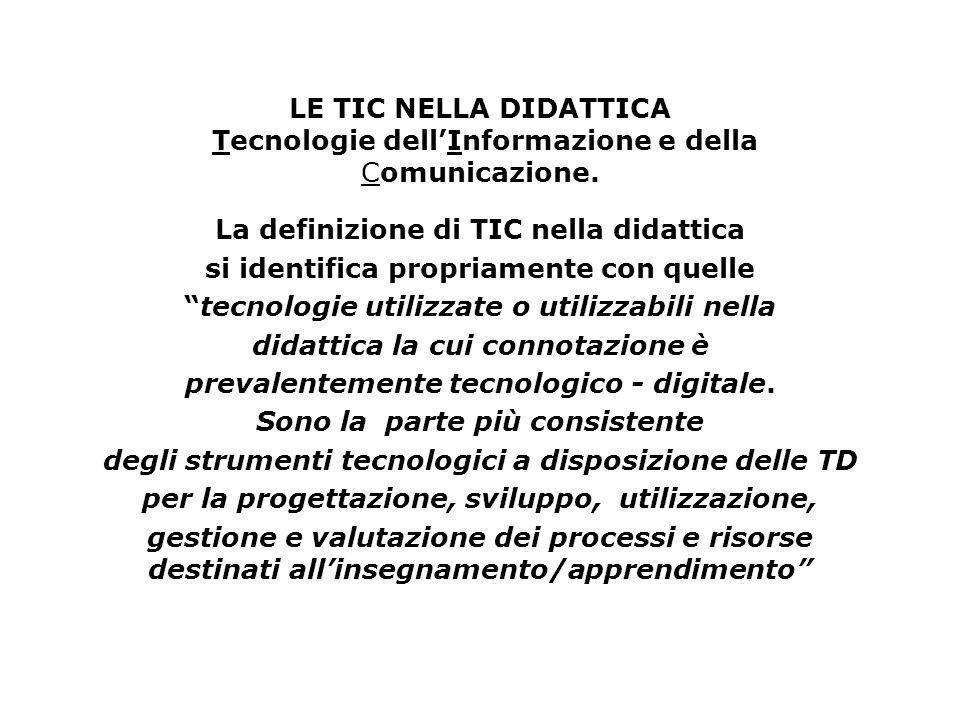 La definizione di TIC nella didattica