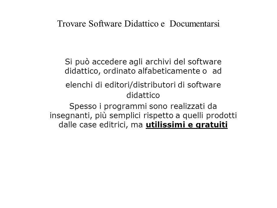 Trovare Software Didattico e Documentarsi