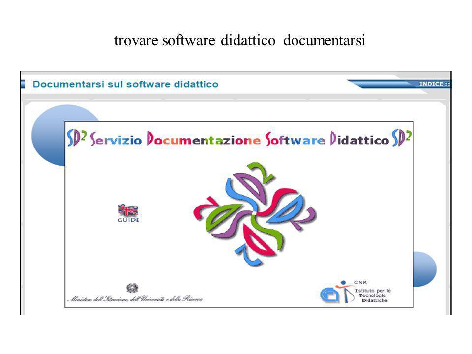 trovare software didattico documentarsi