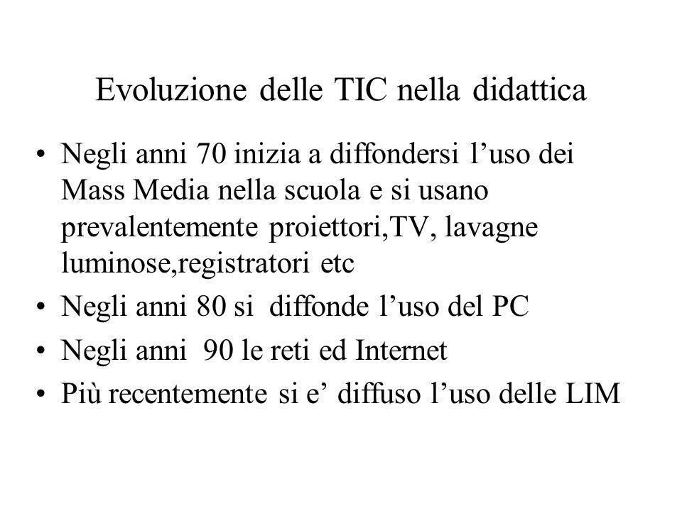 Evoluzione delle TIC nella didattica