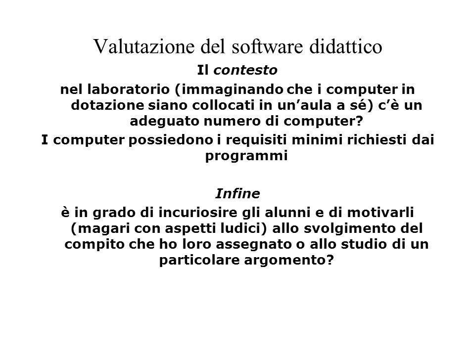 Valutazione del software didattico