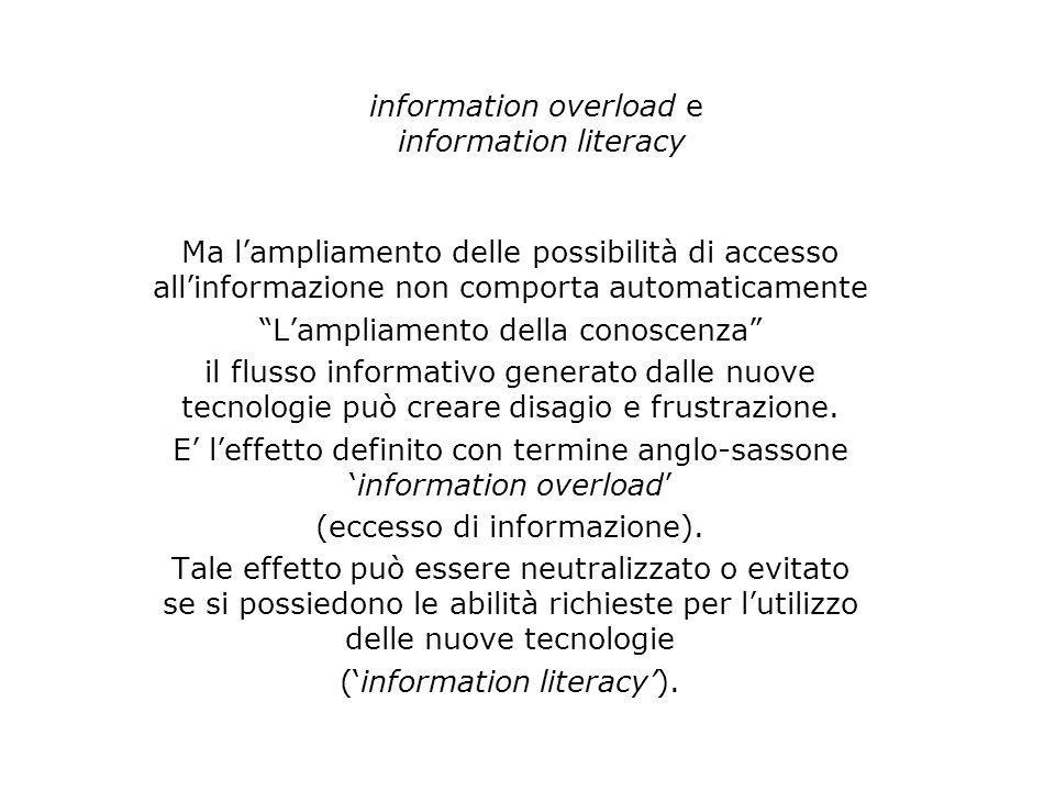 information overload e information literacy