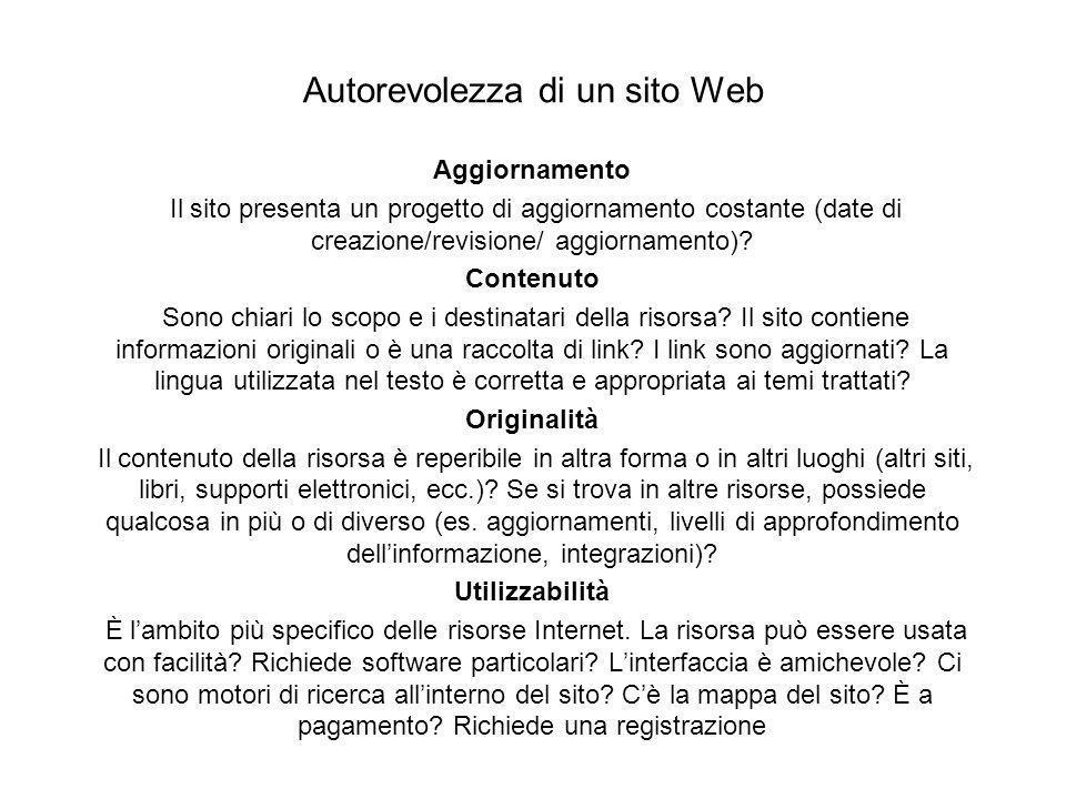 Autorevolezza di un sito Web