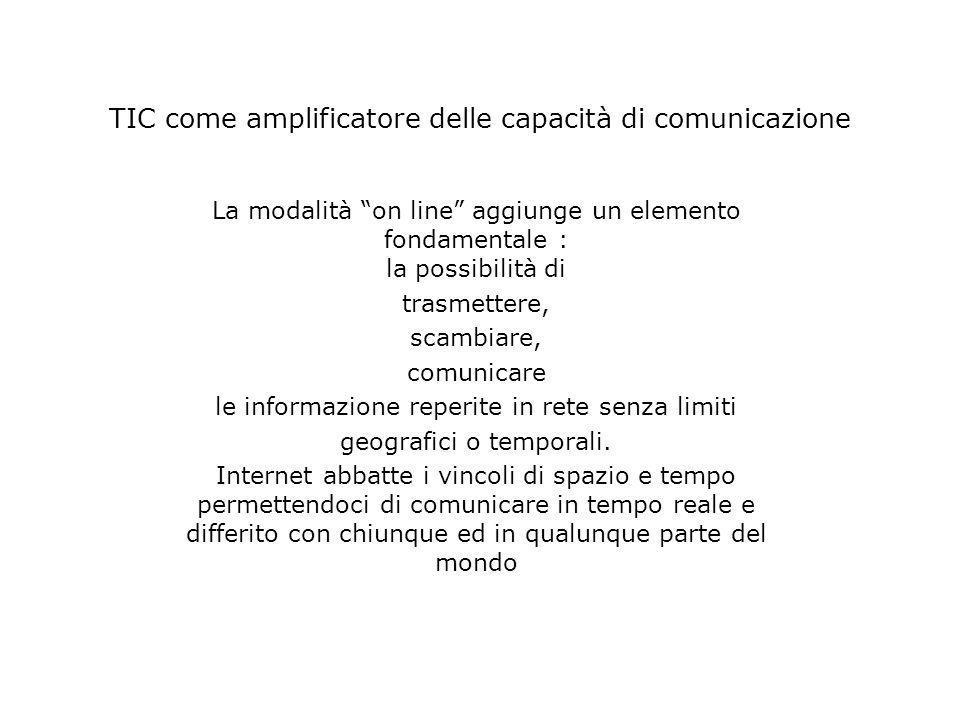 TIC come amplificatore delle capacità di comunicazione