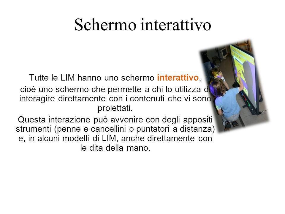 Schermo interattivo