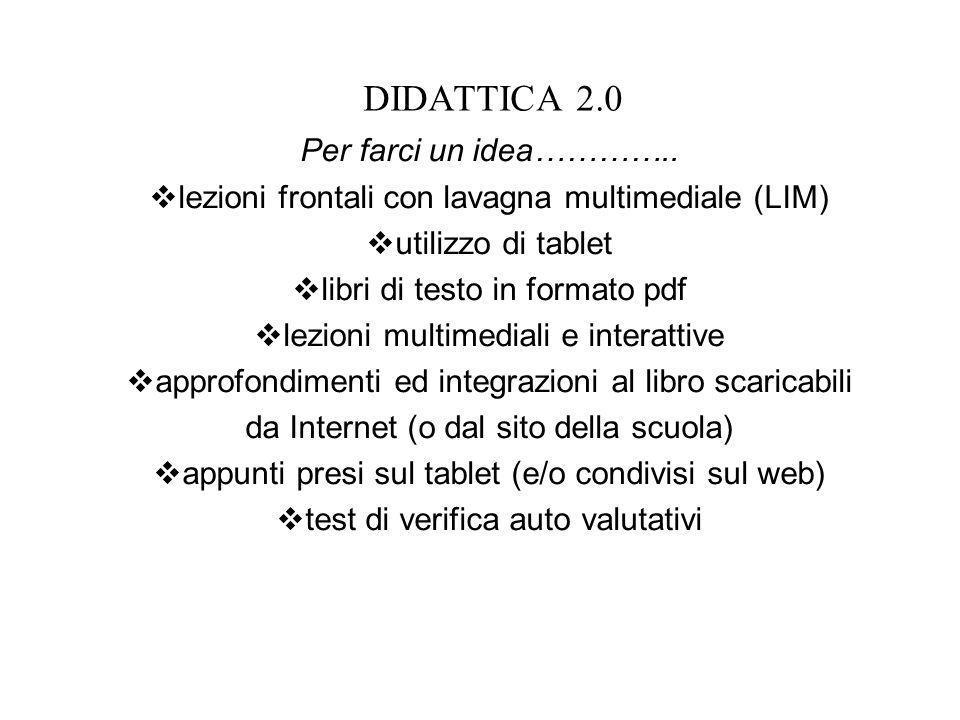 DIDATTICA 2.0 Per farci un idea…………..