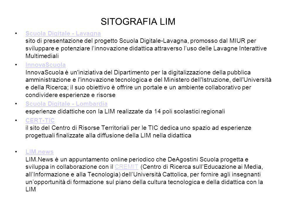 SITOGRAFIA LIM