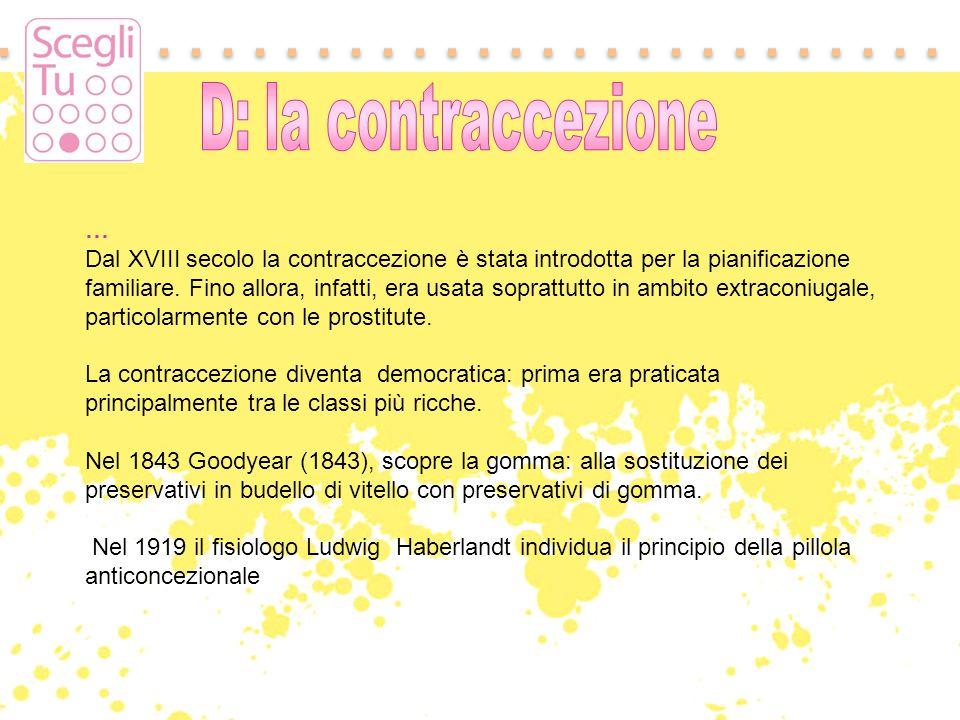 D: la contraccezione …