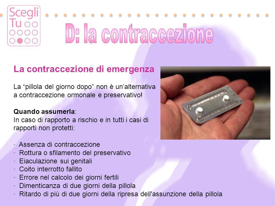 La contraccezione di emergenza