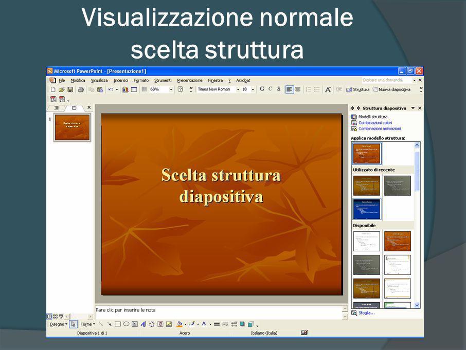 Visualizzazione normale scelta struttura