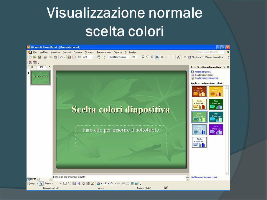 Visualizzazione normale scelta colori