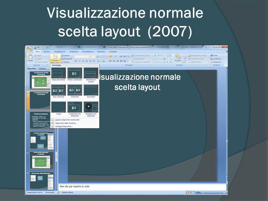 Visualizzazione normale scelta layout (2007)
