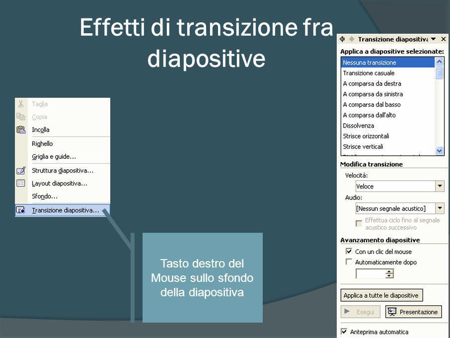 Effetti di transizione fra diapositive
