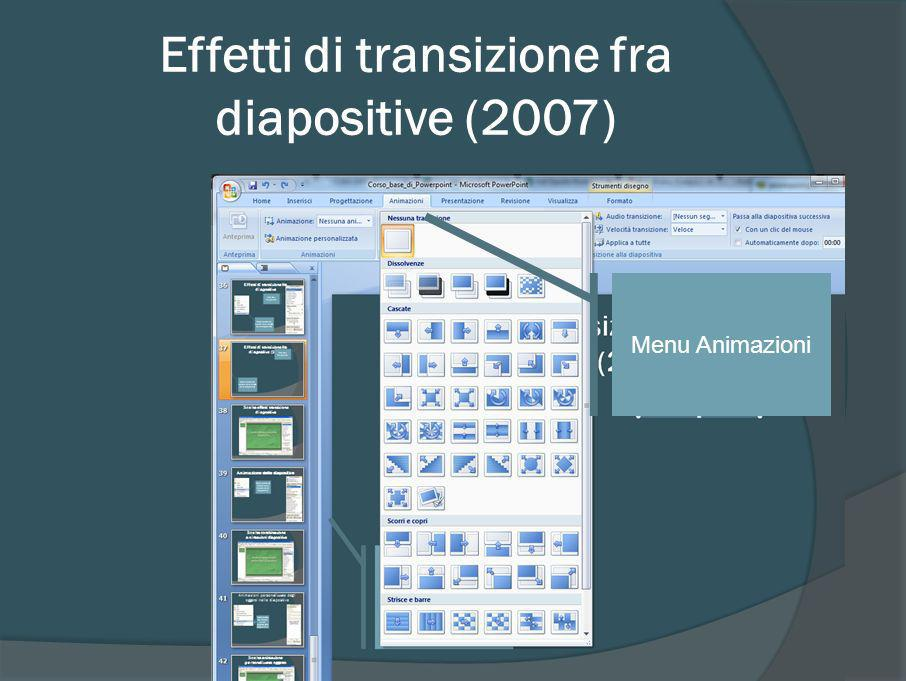 Effetti di transizione fra diapositive (2007)