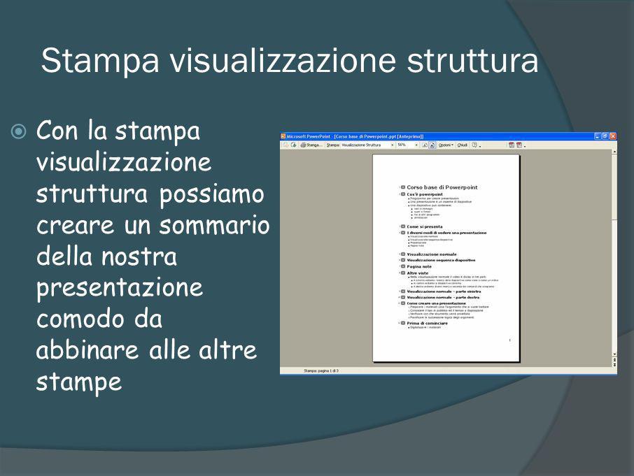 Stampa visualizzazione struttura