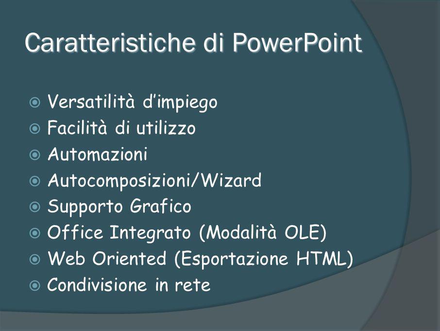 Caratteristiche di PowerPoint