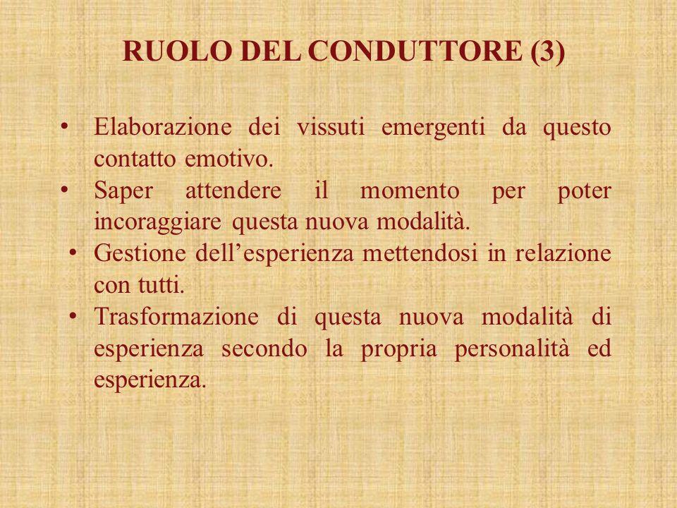 RUOLO DEL CONDUTTORE (3)