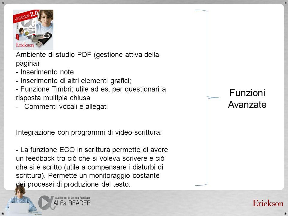 Ambiente di studio PDF (gestione attiva della pagina)