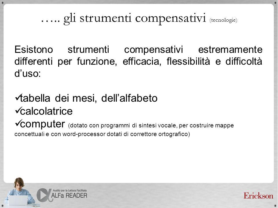 ….. gli strumenti compensativi (tecnologie)