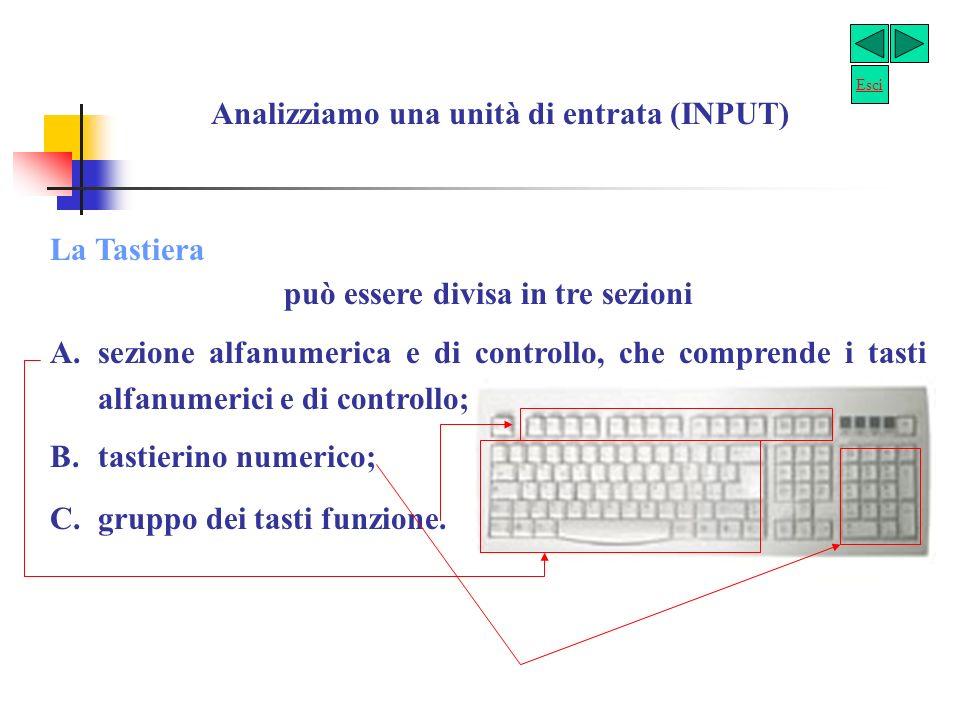 Analizziamo una unità di entrata (INPUT)