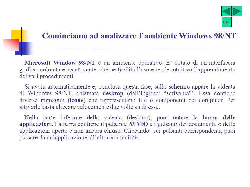 Cominciamo ad analizzare l'ambiente Windows 98/NT