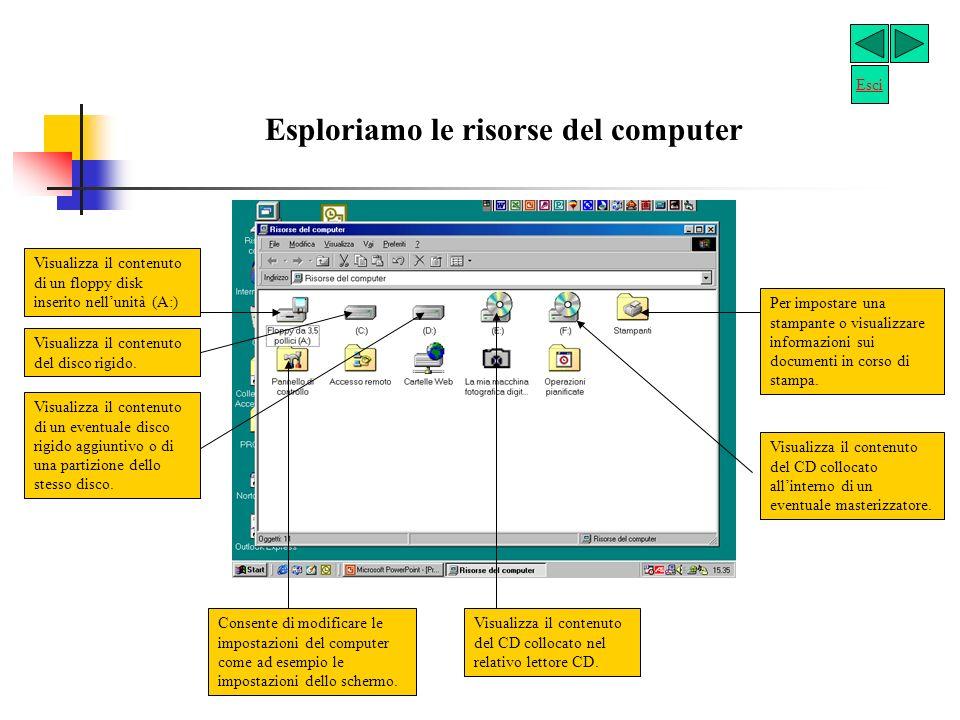 Esploriamo le risorse del computer