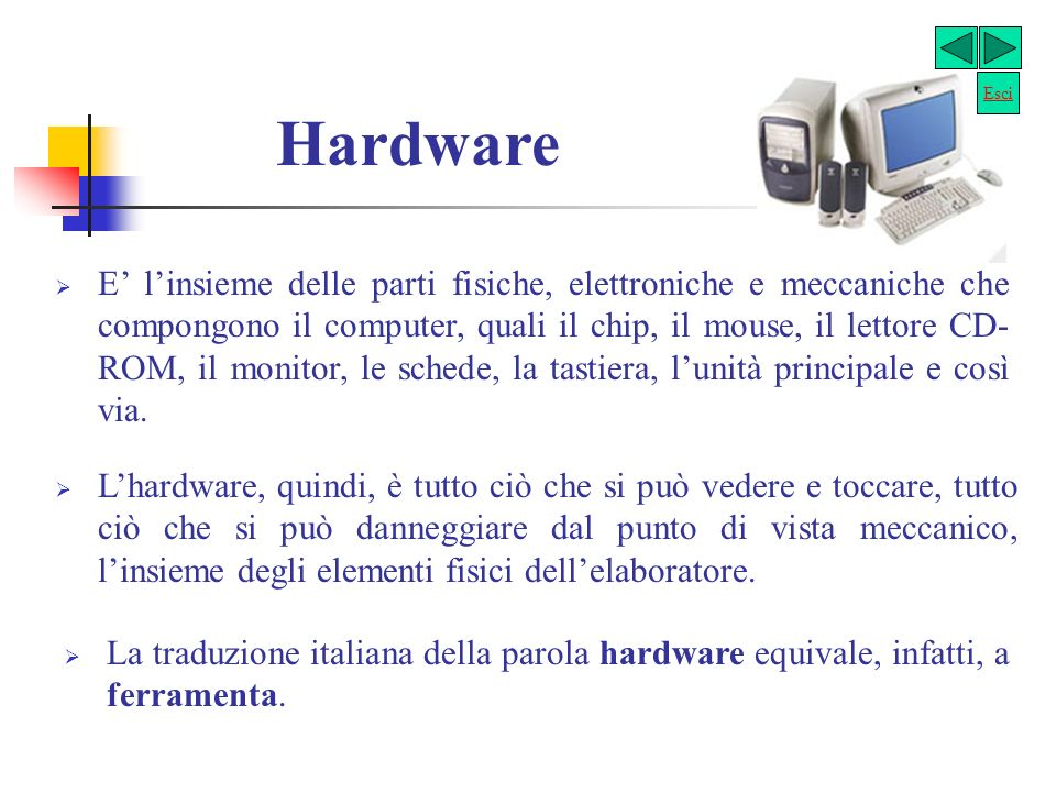 Esci Hardware.