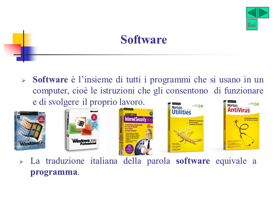 Esci Software.