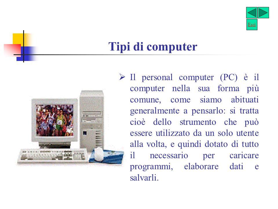 Esci Tipi di computer.