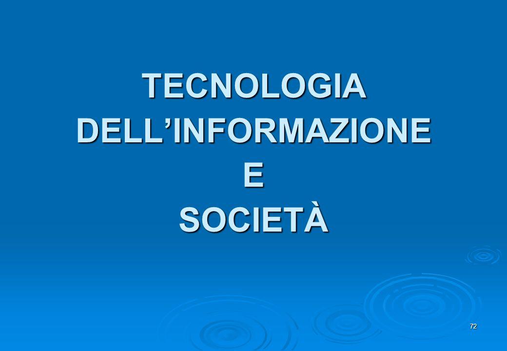 TECNOLOGIA DELL'INFORMAZIONE E SOCIETÀ