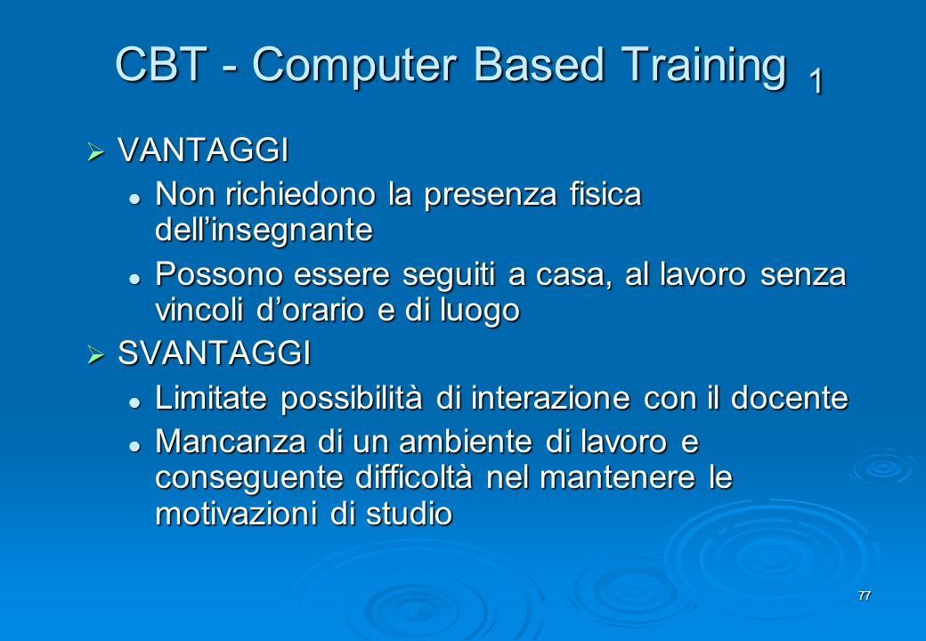 CBT - Computer Based Training 1