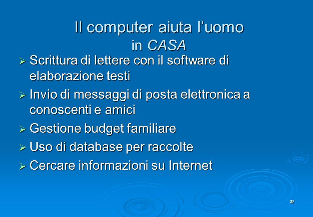Il computer aiuta l'uomo in CASA