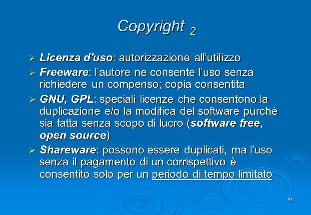 Copyright 2 Licenza d uso: autorizzazione all'utilizzo
