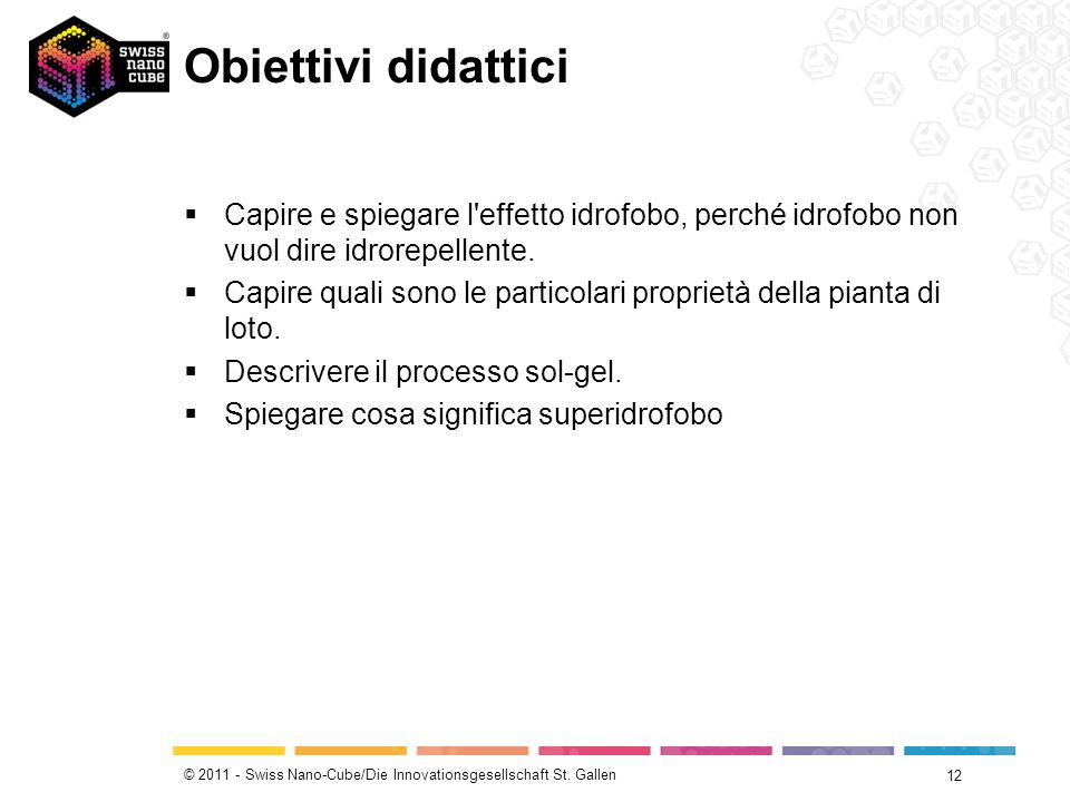 Obiettivi didatticiCapire e spiegare l effetto idrofobo, perché idrofobo non vuol dire idrorepellente.