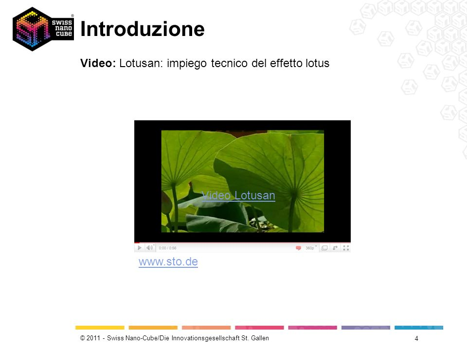 Introduzione Video: Lotusan: impiego tecnico del effetto lotus