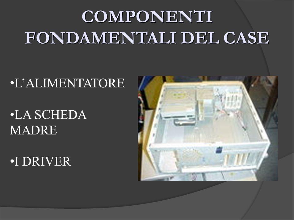 COMPONENTI FONDAMENTALI DEL CASE