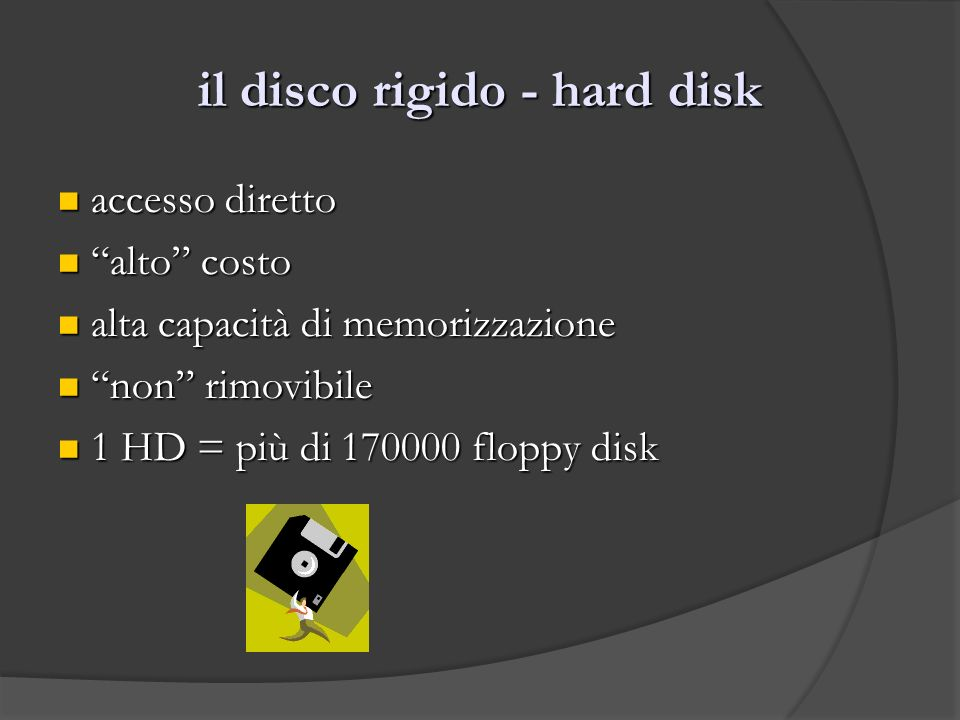 il disco rigido - hard disk