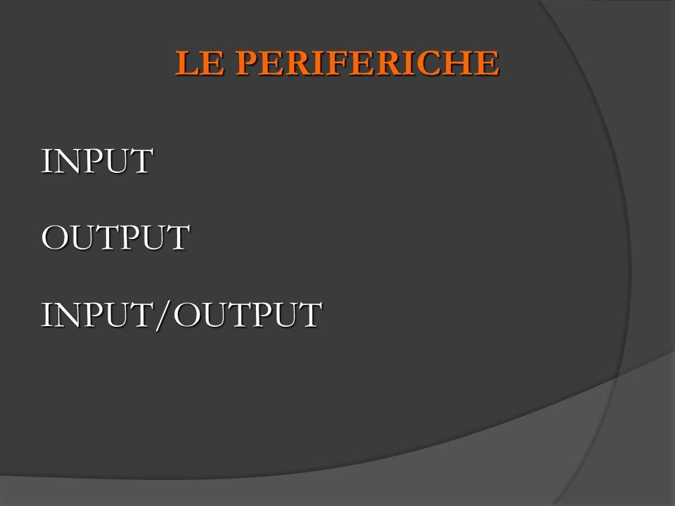 LE PERIFERICHE INPUT OUTPUT INPUT/OUTPUT 40